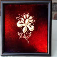 SALE Goldwork Picture, Hand Embroidery, Goldwork Embroidery