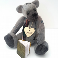 Baloo,Contemporary Artist Bear,One of a Kind Collectable Teddy Bear, Hand Dyed