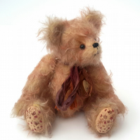 Crackle, OOAK Collectable Mohair Artist Bear, Hand Embroidered Teddy Bear