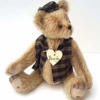 Buzzby, OOAK Collectable Artist Bear, Dressed Mohair Teddy Bear,Traditional Bear