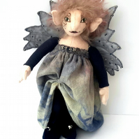 Cloth Art Doll, Elf Fairy Doll, Collectable Fantasy Doll by Bearlescent