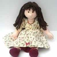 "Georgie,21"" Traditional Rag Doll,Cloth Doll,OOAK Collectable can be Personalised"