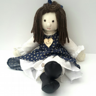 "Beth, 21"" Rag Doll, Cloth Doll, Dressed Collectable, can be personalised"