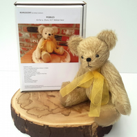 Pebbles, Artist Bear Sewing Kit, Boxed Gift to make a mohair teddy bear