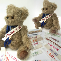 Custom Made Add-on item for Bearlescent Bears, Personalisation,Customised Sash,