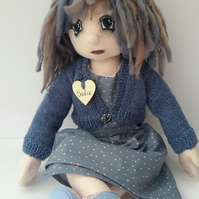Sadie Collectable Doll, Dressed Cloth Doll, Creative Rag doll by Bearlescent