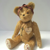 Adrianna, Collectable Artist Bear, One of a kind Mohair Bear, Teddy Bear