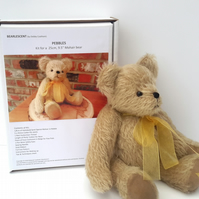 Artist Teddy Bear Making Kit, Pebbles Mohair Bear Sewing Kit, Boxed Gift