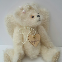 CUSTOM ANGEL BEAR, Memory Bear, Wedding Bear, Made to order Personalised Gift