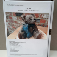Artist designed mohair bear making kit by Bearlescent,Teddy Bear making gift box
