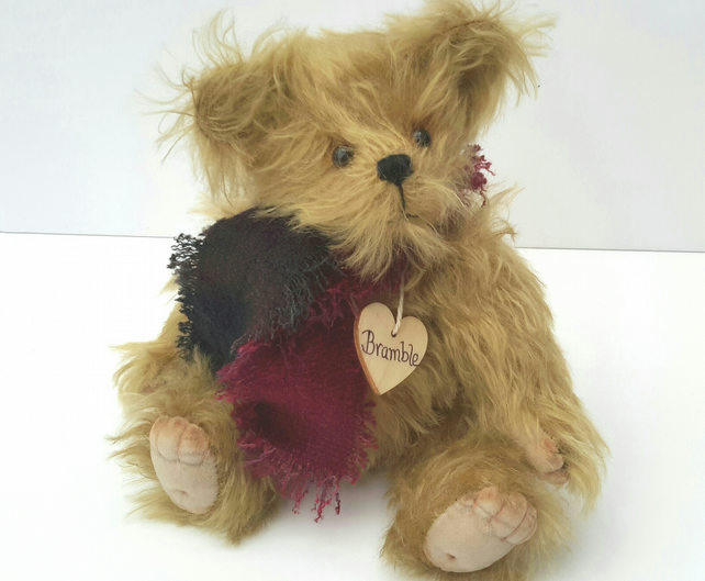 Bramble, Bespoke Mohair Bear, One of a kind Collectable Teddy Bear