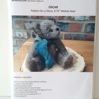 Sewing Pattern to make a Bear,Artist designed Bear making pattern by Bearlescent