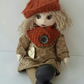 "Charity, One of a kind Artist Doll, 16"" 40cm Handmade Cloth Doll, Character Doll"