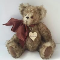 Grizzlee, One of a kind Artist Bear by Bearlescent, Collectable Mohair Bear