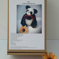 Mohair Panda Bear Making Kit, Make your own Teddy Bear by Bearlescent, Toby Kit