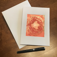 Red rose blank greeting card