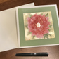 Pink rose flower blank greeting card