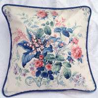 Sanderson retro print cushion cover