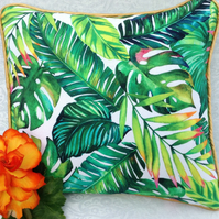 Banana leaf print cushion cover