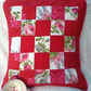 Sanderson  style retro print patchwork cushion cover