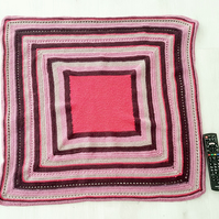 Hand-crocheted stripey blanket (small)