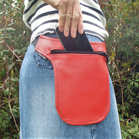 Red Vinyl Hip pouch