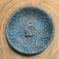 Ring Dish - Turquoise and Copper