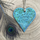 Peacock Hanging Heart Decoration