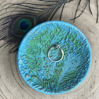 Peacock Ring and Trinket Dish - Mothers Day Gift