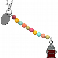 colourful beads beautiful fire hydrant keyring handbag charm gift pouch BD3LT110