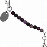 purple beads beautiful love letters keyring handbag charm gift pouch BD5LT90