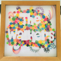 Personalised surname quilled picture