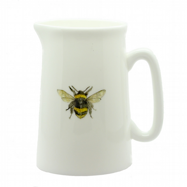 Half Pint Bee Bone China Jug, Modern Farm House Kitchen