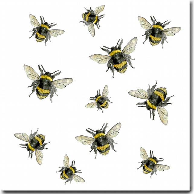 Busy bee greeting card blank card bee birthda folksy busy bee greeting card blank card bee birthday card m4hsunfo