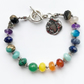 Moon and Star Celestial Chakra Bracelet Spiritual Gift Healing Gemstone Jewelry