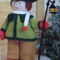 Handmade Knitted Boy In Victorian Style Dress (New, Made To Order) Decoration