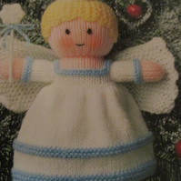 Handmade Knitted Christmas Tree Fairy (Made To Order) Decoration