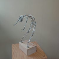 Freedom!  Wire sculpture of male dancer