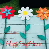 Large Wooden Wall or Garden Fence Flower