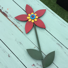 Single Stemmed Wooden Flower