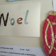 Foiling on Fabrics Textile Workshop Create Christmas Cards & Decorations 18 Nov