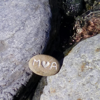 Personalised engraved pebble
