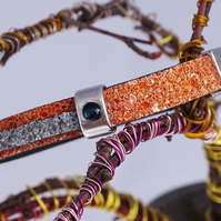 Sparkly leather bracelet