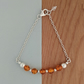 Sterling Sliver and Amber Gemstone Bracelet
