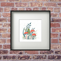 Limited Edition Toadstools Art Print