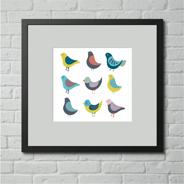Limited Edition Birds Art Print