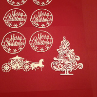 Job lots Christmas card embellishments
