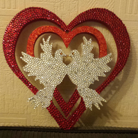 DiamAnte heart with two doves