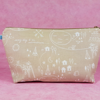 Every Day is An Adventure make up bag, wash bag, pencil case