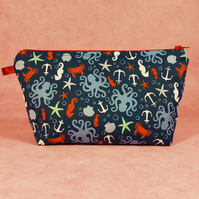 Under The Sea make up bag, wash bag, pencil case
